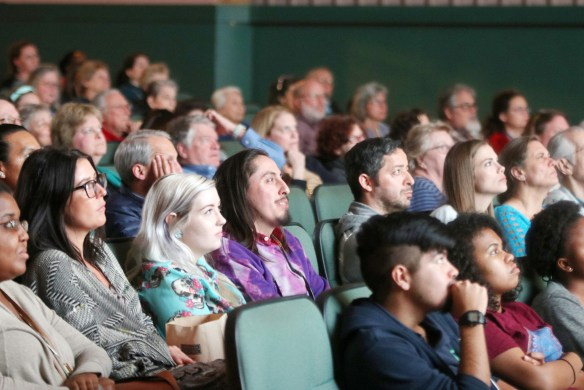 Audience at the Wild & Scenic Film Festival at River Oaks Theatre.