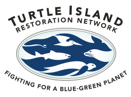 Turtle Island Restoration Network: Fighting for a Blue-Green Planet logo with turtles