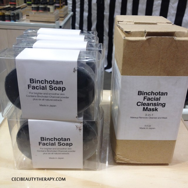 Binchotan Facial Soap and Cleansing Mask, the Scrub Towel can be found near the cash registers where you can make impulsive buys last minute!