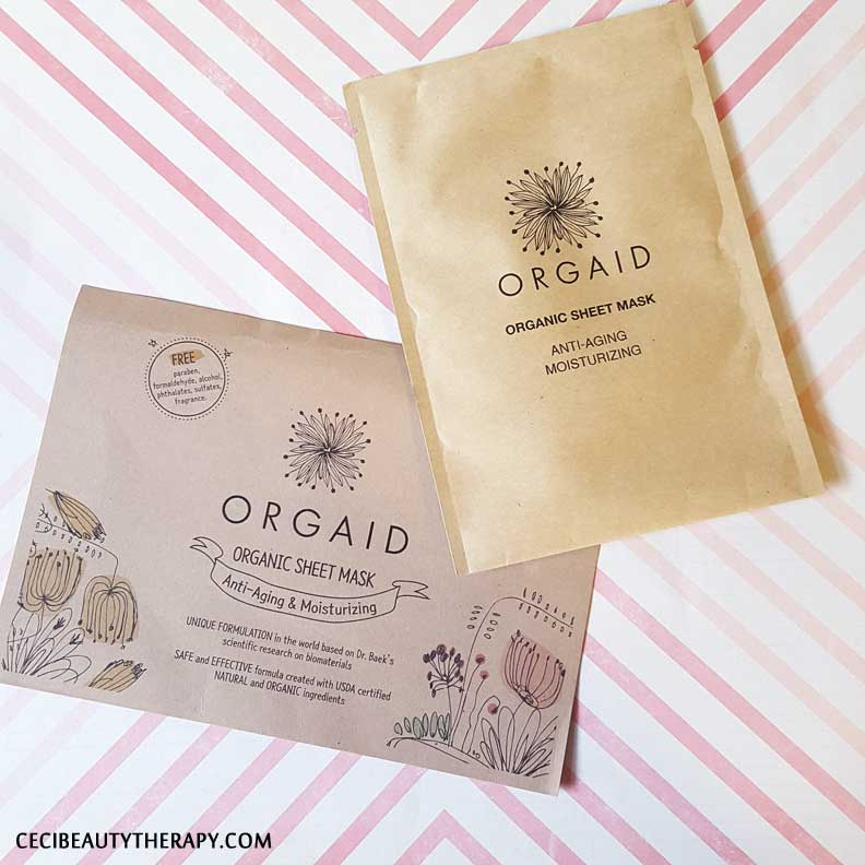 Pre-Production Sample Review: Orgaid Organic Sheet Mask, Anti-aging & Moisturizing (Edited)