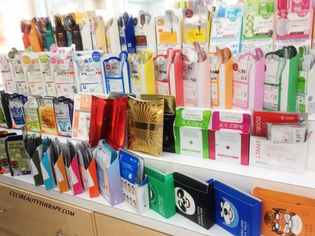 sheet masks at Amore Chinatown NYC