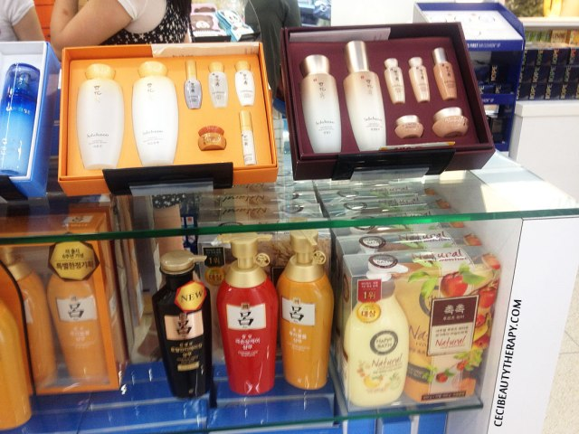 Sulwhasoo boxed gift sets at Amore Chinatown NYC