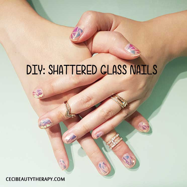 DIY: Shattered Glass Nails From Korea\'s UNiSTELLA (유니스텔라 네일_ ...
