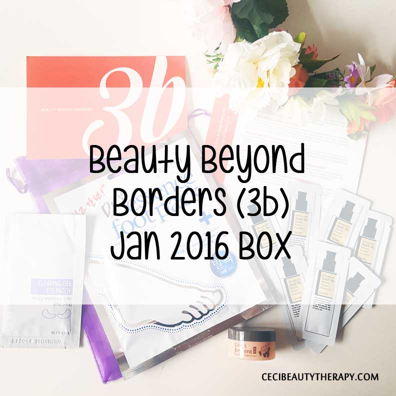 Unboxing January 2016 3b (Beauty Beyond Borders) Box