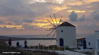 Lone windmill in Oia