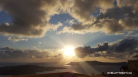 Santorini sunsets are gorgeous from any angle. You don't have to go to Oia.