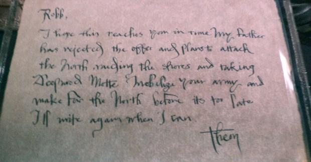 Theon carta Robb