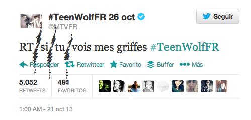El tweet de Teen Wolf