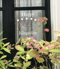 Gratis raamtekening koningsdag