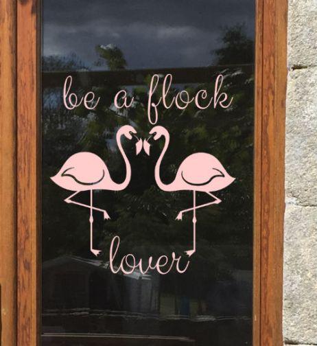 raamtekening Flamingo