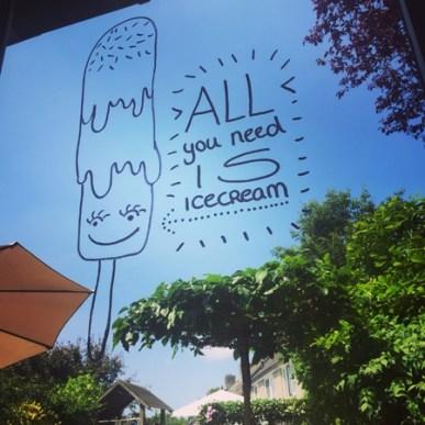raamtekening ijsje