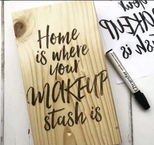 Met een Transfermarker teksten op hout zetten - Easy Peasy DIY