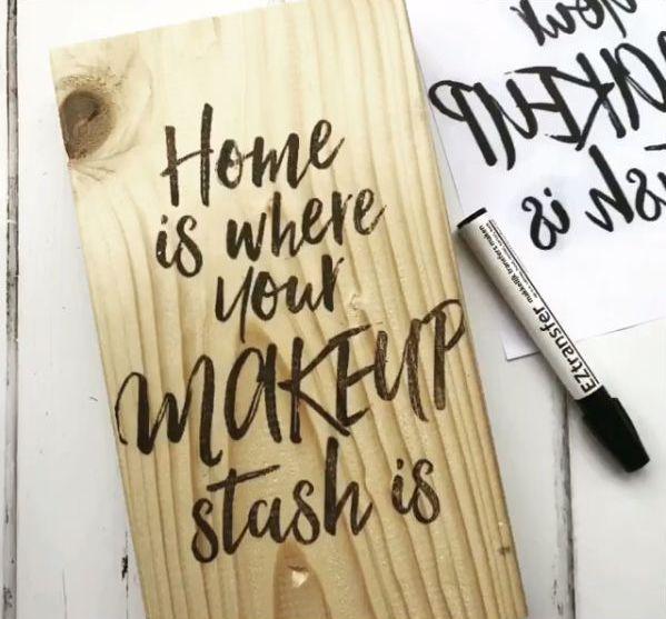 Met een Transfermarker teksten op hout zetten – Easy Peasy DIY