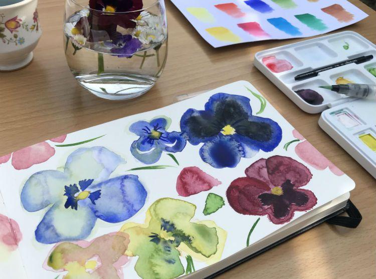 Nieuwe IG hype: mini sketchbook