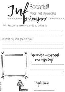 Juffendag Printable Gratis Download Juffendag Idee