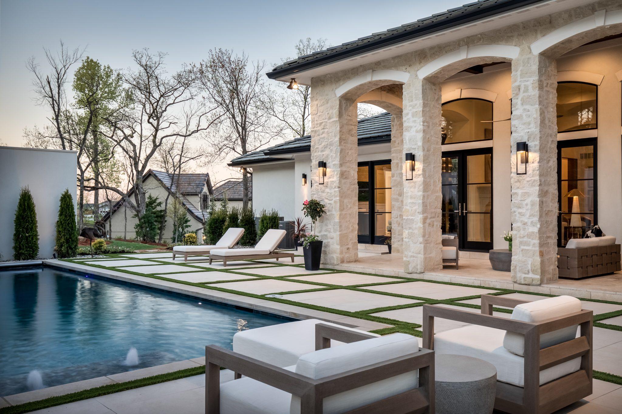Custom built patio and pool