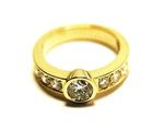 Bague diamants or jaune