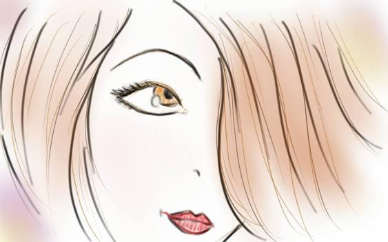 portrait d une femme au visage pale