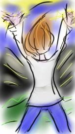 dessin d une femme qui sort d elle la colere