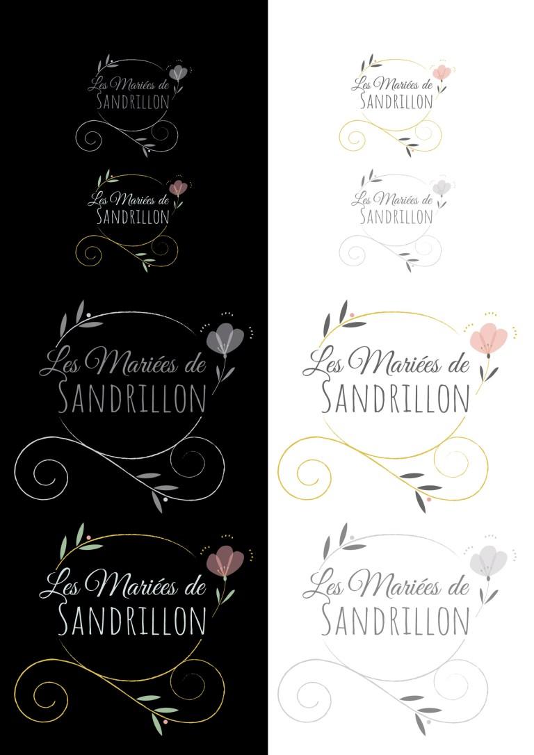 Déclinaison des logos les Mariées de Sandrillon