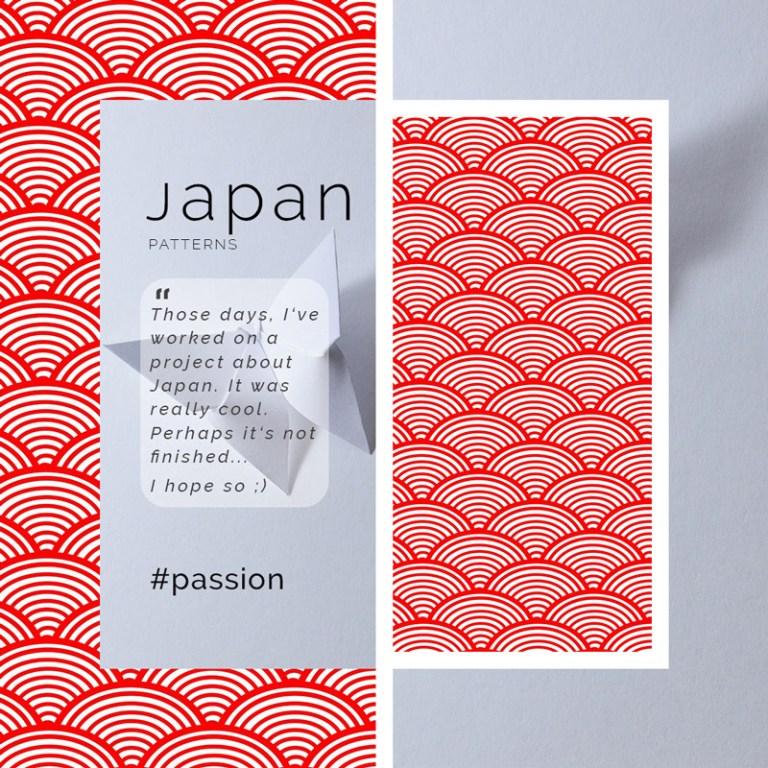 Flyer à inspiration Japonaise créé par Cécile Jonquière Graphiste Illustratrice Webdesigner
