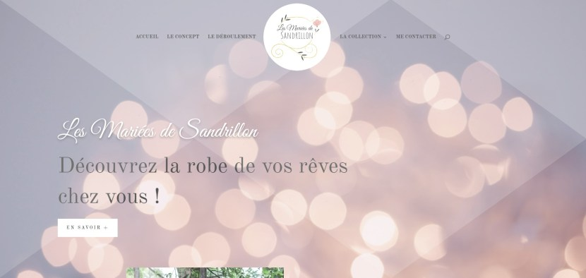 page accueil du site Les Mariées de Sandrillon
