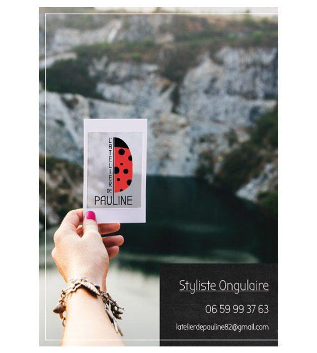 visuel du flyer l'atelier de Pauline créé par Cécile Jonquières Graphiste webdesigner illustratrice 31