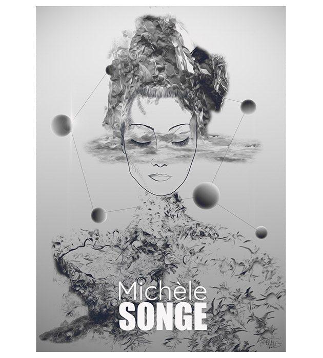 Affiche Michel Songe créée par Cécile Jonquières Graphiste webdesigner illustratrice 31