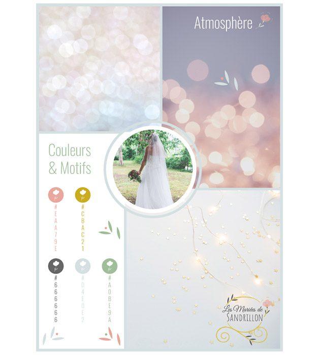 Planche de tendances Les Mariées de Sandrillon créée par Cécile Jonquières Graphiste webdesigner illustratrice 31