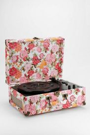 Splashes of color for the living room-filled music thanks to Crosley's floral turntable