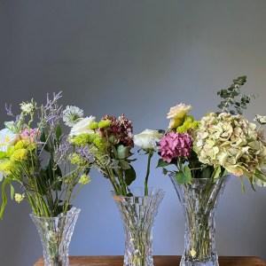 florero cristal 3 tamaños