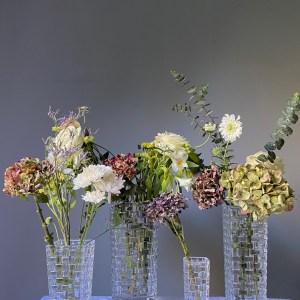 florero cristal lujo /4 tamaños