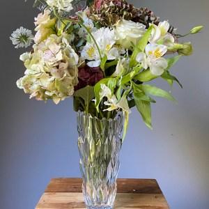 florero lujo cristal