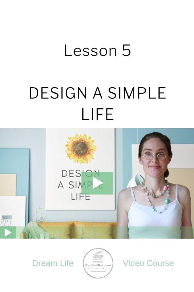 Design a Simple Life Lesson