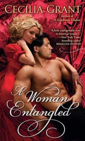 A blond woman in a red dress smiles at the reader, her arm around a shirtless guy who looks kind of like Paul Rudd