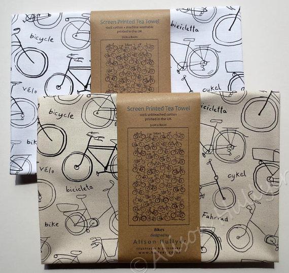 bicycle tea towel