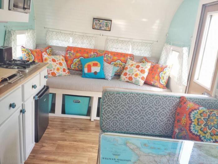 bright vintage camper