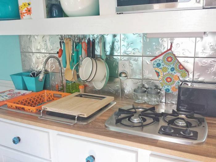 vintage camper kitchen
