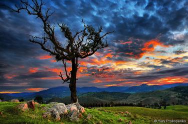 HDR sunset shot taken in Blue Mountains, Australia.