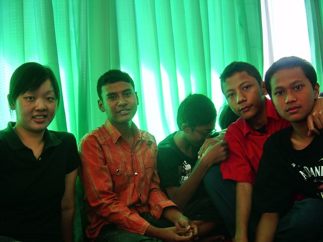 with my group
