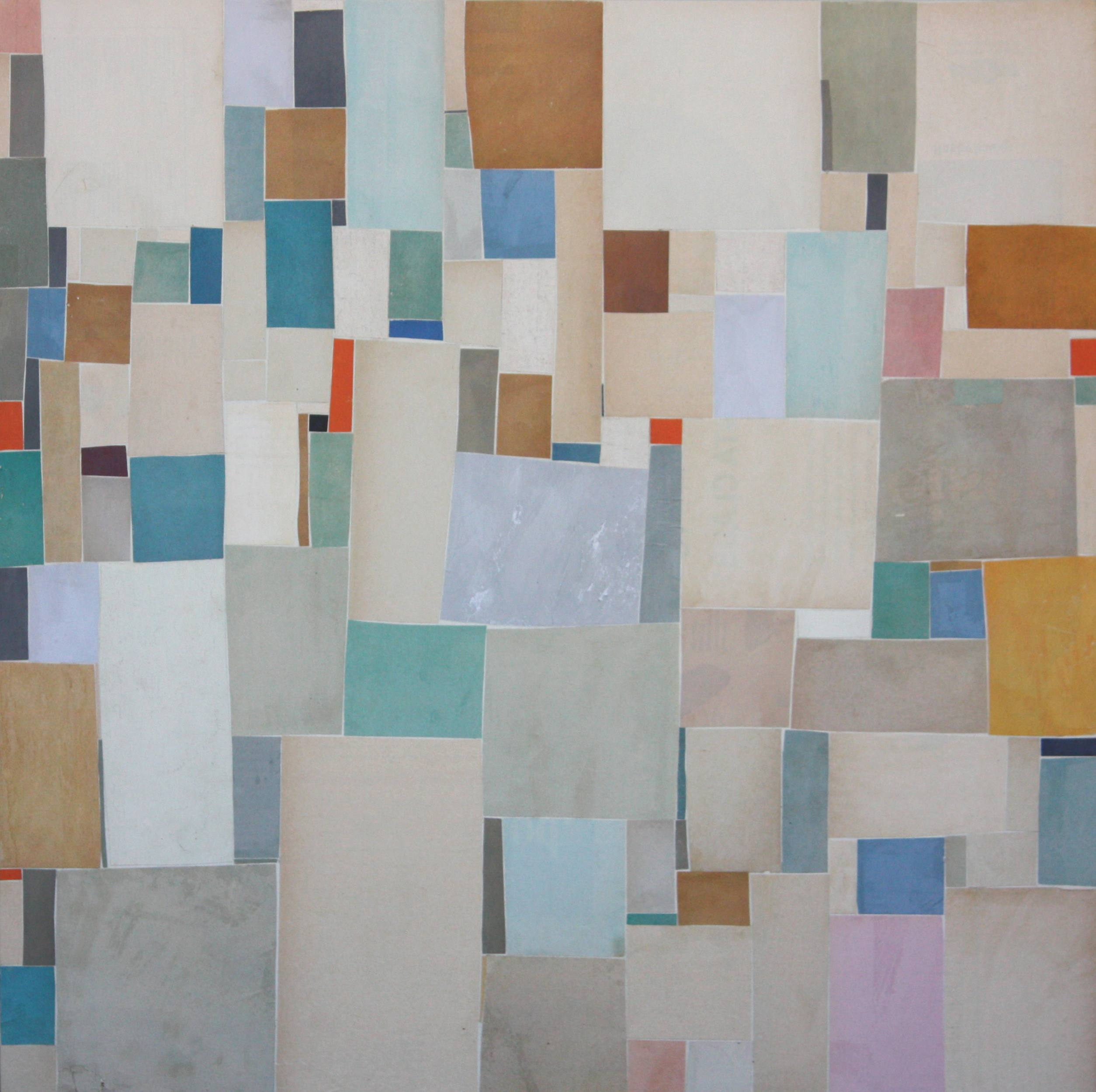 Post Dogmatist Painting #510 - 2011 - 20x20 inches - collage on canvas