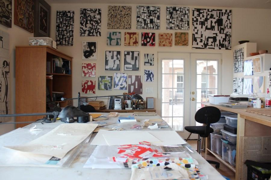 Cecil Touchon's Collage Studio