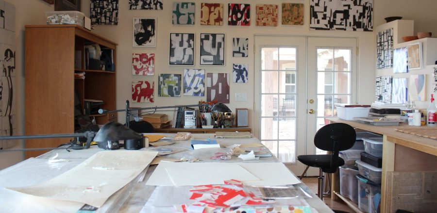 Cecil Touchon's Collage Studio