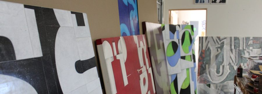 Paintings being prepared for shipping