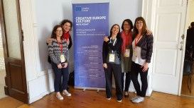 IETM Porto Plenary Meeting 2018 – Creative Europe Showcase: predstavnice CED iz Portugalske, Slovenije, Irske in Češke.
