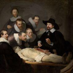 Slika The Anatomy Lesson Of Dr Nicolaes Tulp, Rembrandt Van Rijn. Vir Europeana.