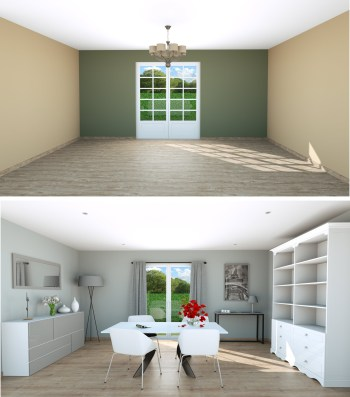 Dining room staged contemporary