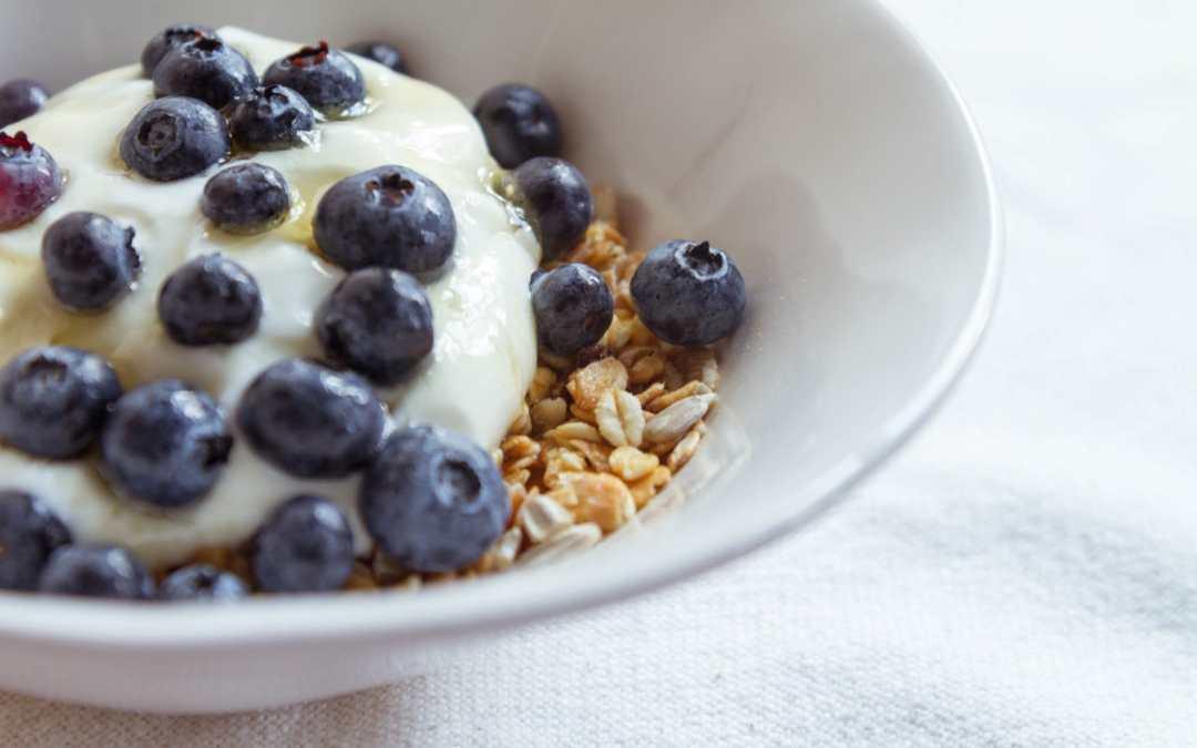 A Nutritious Breakfast: Muesli with Berries & Yogurt