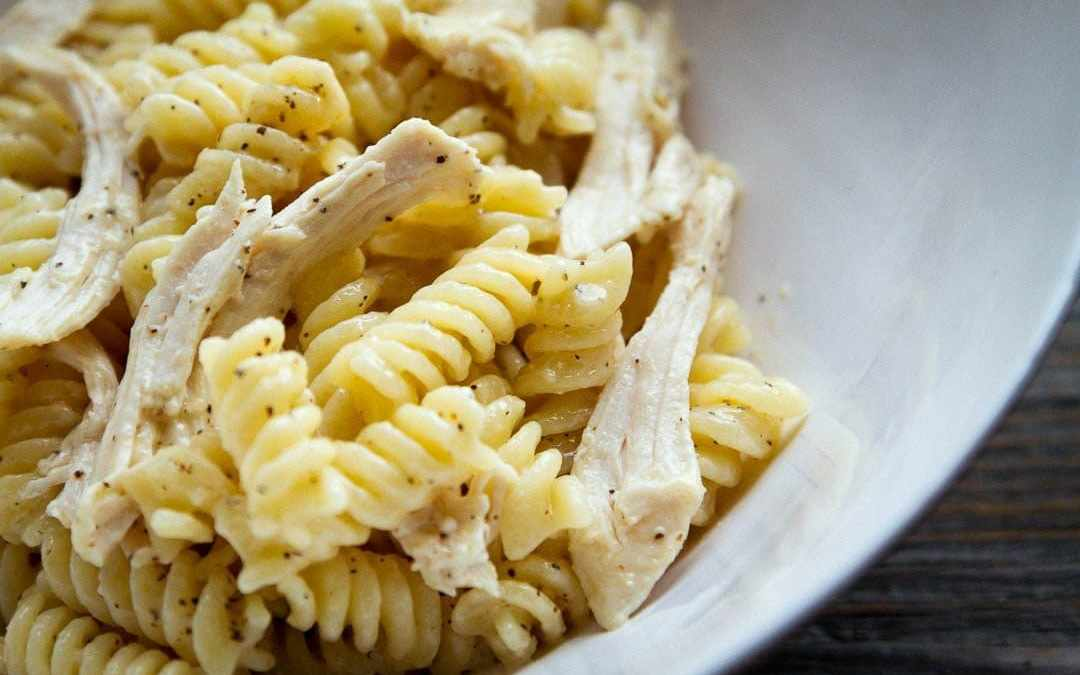 Creamy Parmesan and Pepper Fusilli with Chicken