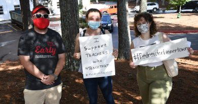 Local educators protest anti-critical race theory resolution